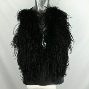 Bebe feathered vest